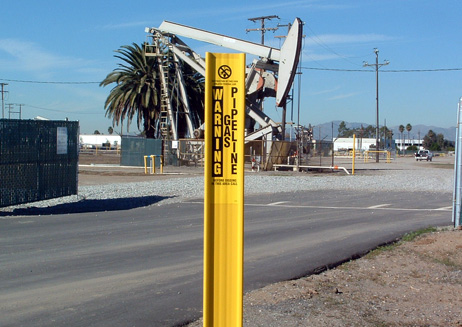 Flexible Utility Gas Pipeline Marker
