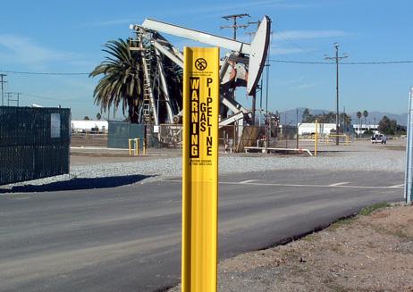 Flexible Utility Gas Pipeline Marker