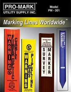 Fiberglass Utility Markers Line Markers Marker Posts Pipeline Markers Fiber Optic Marker Signs