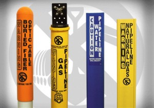Line Markers Pipeline Markers Dome Marker Post Fiber Optic Cable Markers Utility Signs